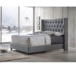 grey bed baxton studio katherine contemporary tufted grey