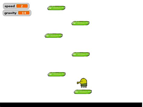 how to make a doodle jump on scratch doodle jump accurate physics dev rev2 on scratch