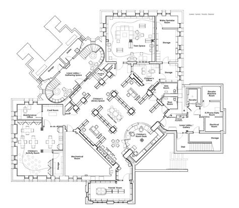 youth center floor plans the plans gloversville public library