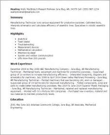 manufacturing resume templates manufacturing resume template jianbochen