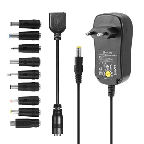 Adaptor Multi Volt digoo dg ua10 3 12v universal 10 selectable charger adapter multi voltage switching micro usb