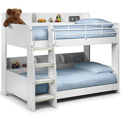 Bunk Bed Wood Frame In White 3ft Rosa White Finish Childrens Kids Wooden Bunk Bed Frame Single