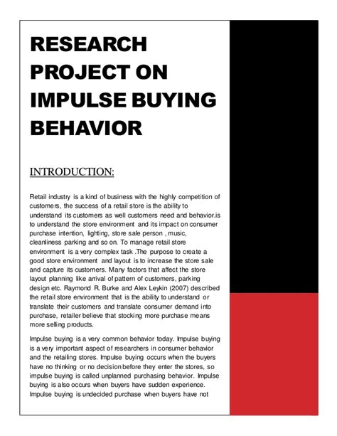 effect of business ethics on buying behaviour books research project on impulse buying behavior 1