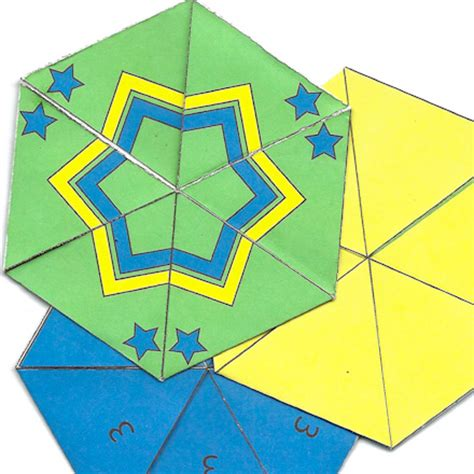 Origami Flexagon - flexagons and other cool geometric paper toys homeschool