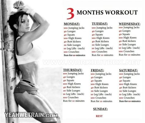 25 best ideas about 3 month workout on month