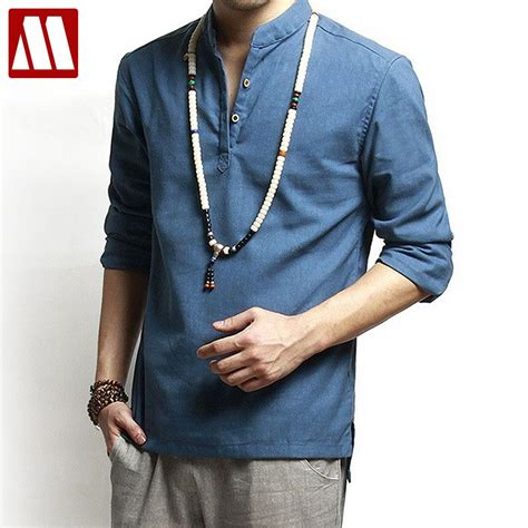 Kemeja Asia asian fashion mens pullover shirt for summer sleeve