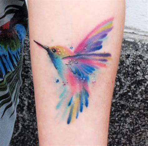 watercolor hummingbird tattoo ink pinterest