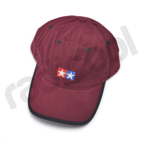 Baseball Cap Maroon 66974 new tamiya maroon burgundy baseball cap sports black trim embroidered logo ebay