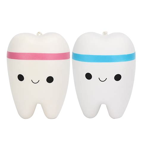 Tooth Squishy jumbo i teeth squishy charm 183 kawaii squishy shop