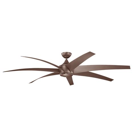 80 inch ceiling fans kichler 310115cmo lehr contemporary mocha finish