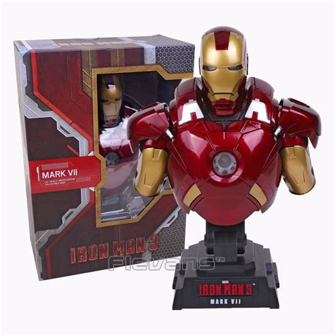 Figure Iron 3 Cosbaby Toys Mainan Toys iron 3 vii 1 4 scale limited edition collectible bust figure model with led light