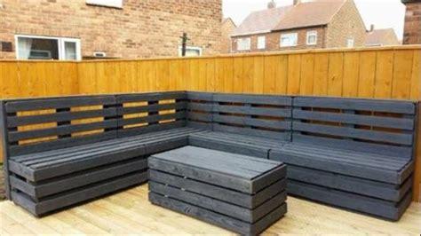pallet corner bench pallet corner sitting unit and table pallet furniture plans
