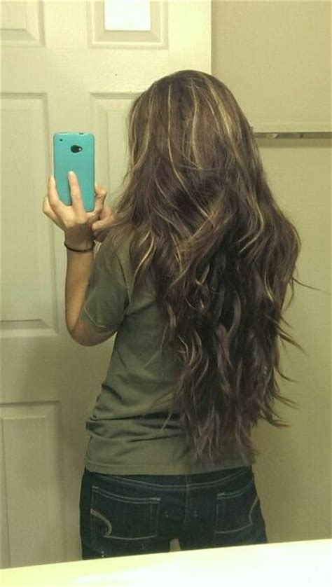 cute highlights for brunettes long brown brunette blond highlights hair curly wavy