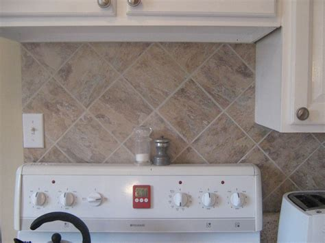 wallpaper that looks like tile backsplash kitchen with