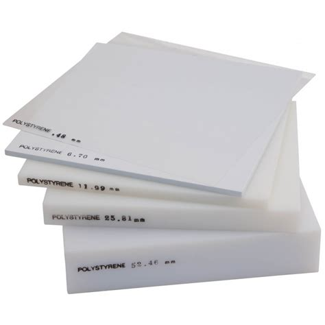 thick sheets polystyrene sheet white 0 80mm thick 1 32 inch x 25cm