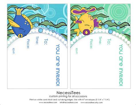 free printable birthday invitations under the sea free under the sea birthday printables from necessitees