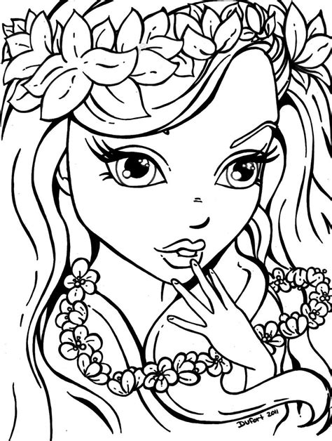 printable coloring pages of a girl lisa frank girl coloring pages printable coloring page for