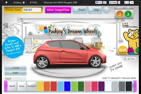 design your dream vehicle create your dream car with peugeot and pudsey for bbc
