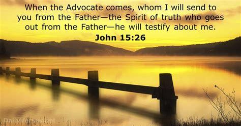 i will send a comforter john 15 26 bible verse of the day dailyverses net