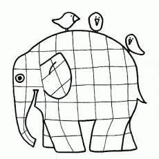 Elmer The Elephant Template by Kleurplaat Collections Elephants Az Coloring Pages