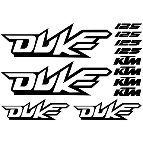 Motorcycle Wall Stickers wallstickers folies ktm 125 duke decal stickers kit