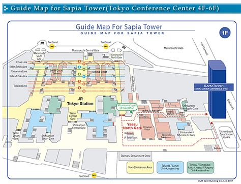 tokyo station floor plan guide map for sapia tower tokyo conference center 4f 6f
