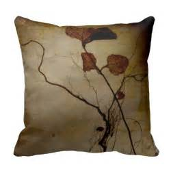 Brown Throw Pillows Vintage Brown Leaf Root Throw Pillow Zazzle