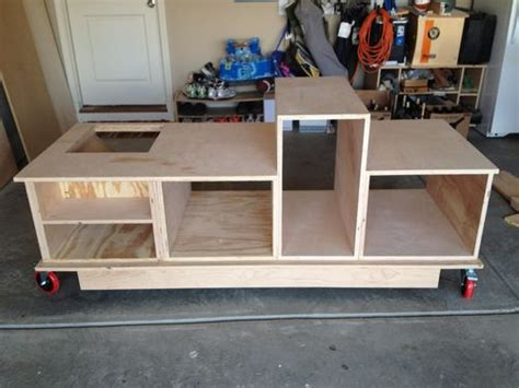 how to make a table saw bench table saw mobile workstation plans cedar spray woodlore
