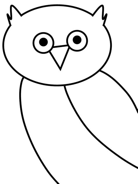 printable outline of an owl owl template animal templates free premium templates