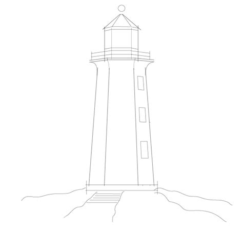 drawings of lighthouses cliparts co