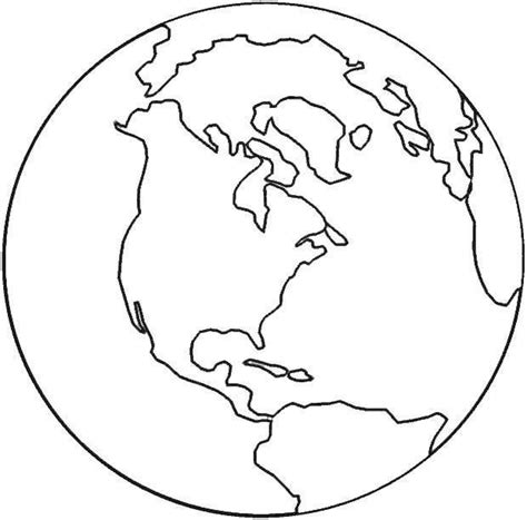 coloring page of globe earth template clipart best