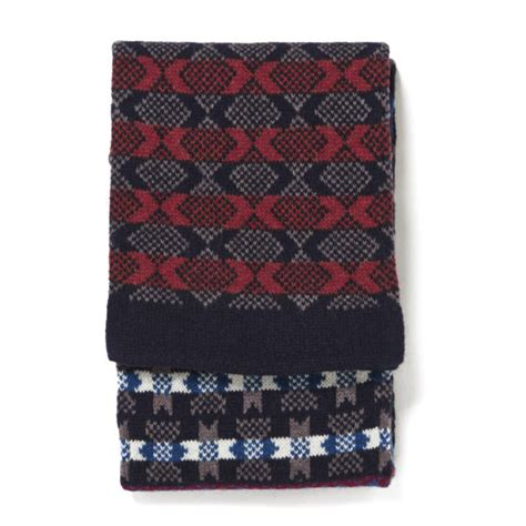 knitting pattern for tubular scarf barbour multi pattern tubular knit scarf multi colour