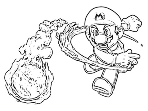 mario fire flower coloring page mario fireball coloring page