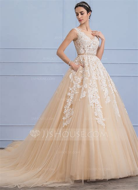 Home Decorations And Accessories by Ball Gown Scoop Neck Cathedral Train Tulle Lace Wedding