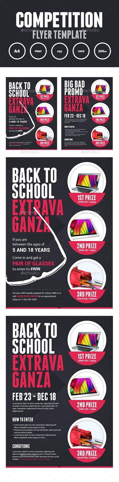 competition prize flyer print flyer template and