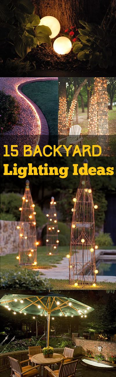 outdoor lighting ideas for backyard backyard lighting 15 backyard lighting ideas bless my weeds