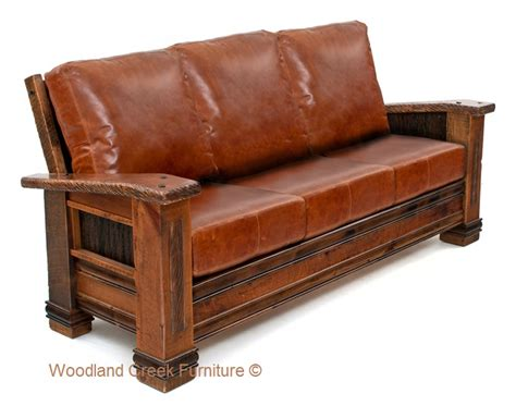 Cabin Sofa Ranch Couch Barn Wood Sofa Reclaimed Cabin Bed With Sofa
