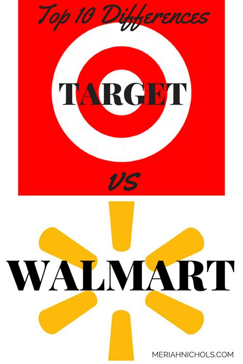 target  walmart top  differences  target