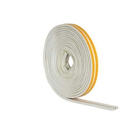 Seal 10m wickes p profile rubber draught seal white 10m wickes co uk
