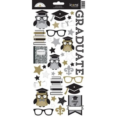 doodlebug stickers doodlebug design the graduates collection cardstock