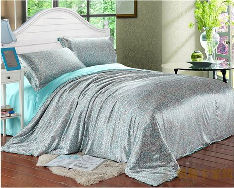 twin size bed comforter sets aqua blue paisley luxury silk satin bedding comforter set
