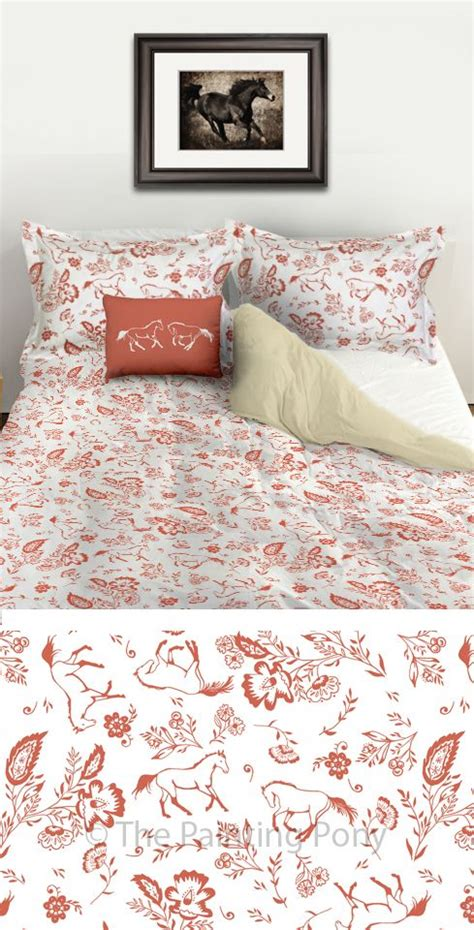 Whimsical Bedding Sets Whimsical And Chic Equestrian Duvet Bedding Set Stylish Coral And White Colors With A Country