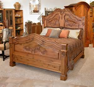 bed western bed unique high end bedroom