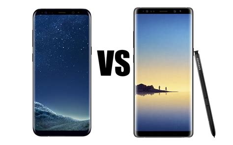 Samsung Note 8 Vs S8 galaxy note 8 vs galaxy s8 quel smartphone grand format samsung adopter