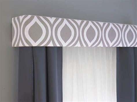 Bow Window Treatments Ideas gray cornice board valance window treatment custom curtain