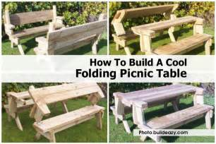 How To Make A Folding Picnic Table Bench how to build a cool folding picnic table