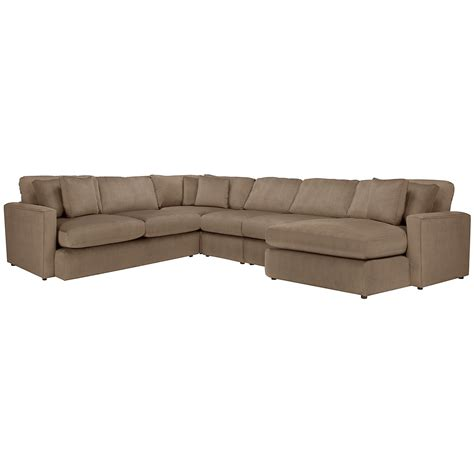 taupe sectional sofa microfiber chaise lounge living room city furniture tara2 dk taupe micro right chaise sect