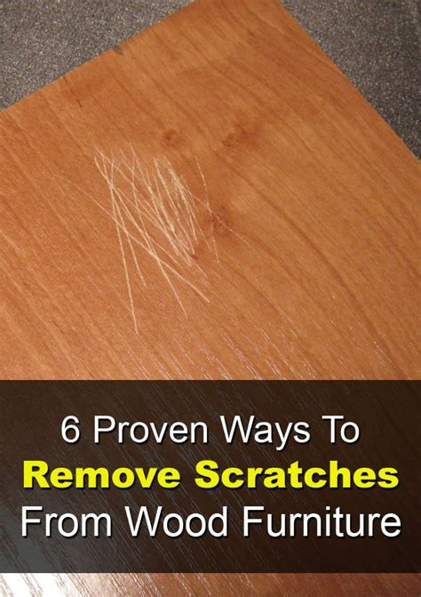 proven ways  remove scratches  wood furniture wood repair house cleaning tips