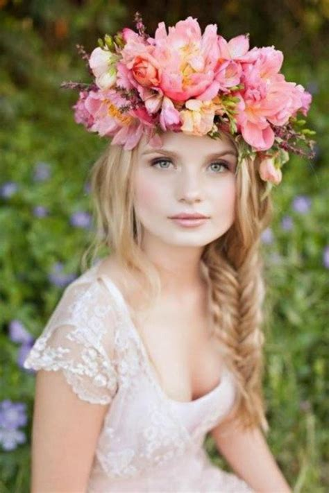 braided wedding hairstyles with beautiful flowers