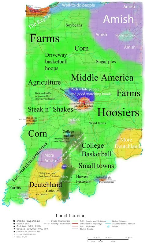 Florida House by Map Of Indiana Stereotypes Oc Indiana